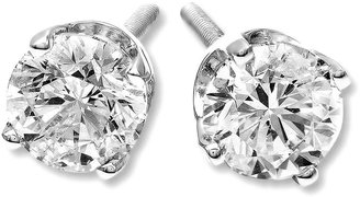 FINE JEWELRY 1/2 CT. T.W. Diamond 14K White Gold Round Stud Earrings $899.97 thestylecure.com