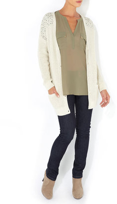 Wallis Stone Embellished Shoulder Cardigan