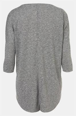 Topshop Burnout Drop Shoulder Top Grey 6