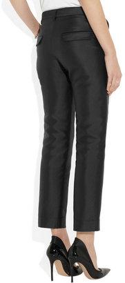 Jil Sander Silk-blend duchesse straight-leg pants