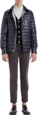 Thom Grey. Snowflake and Flag Embroidered Quilted Jacket