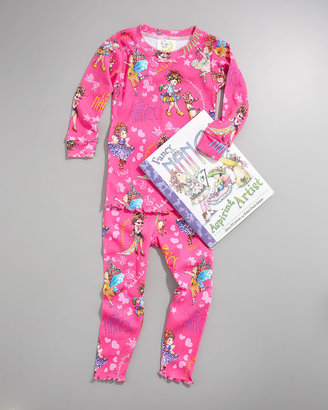 Books To Bed Fancy Nancy Pajama and Book Set, Child