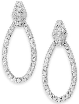Townsend Victoria Sterling Silver Diamond Accent Pear-Shaped Drop Earrings