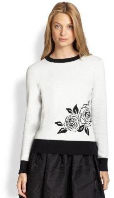 Kate Spade Rose Intarsia Sweater