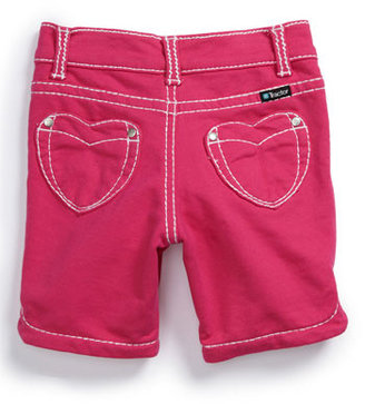 Tractor 'Heart Pocket' French Terry Bermuda Shorts (Little Girls) Light Pink 5