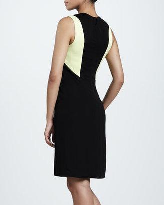 J. Mendel Colorblock Crinkle Dress