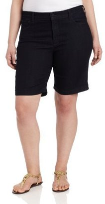 NYDJ Women's Plus-Size Helen Short Dark Enzyme Jean