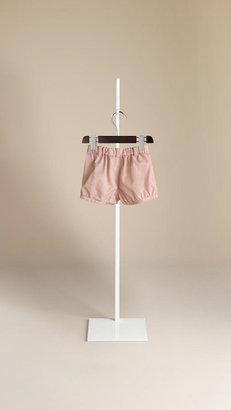 Burberry Box-Pleat Pocket Cotton Shorts