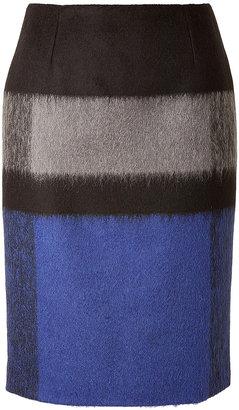 Paule Ka Wool Skirt in Cobalt