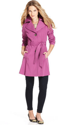 London Fog Petite Coat, Belted Trench