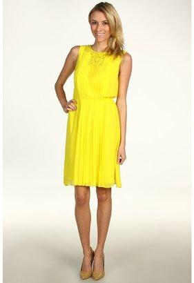 Jessica Simpson Embellished Pleated Blouson Dress Women's Dress