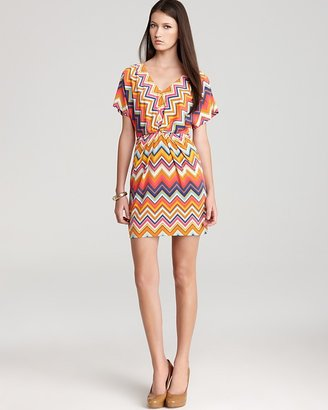 Trina Turk Printed Dress - Mini Break V Neck