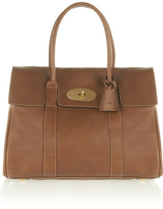 Mulberry The Bayswater Textured-leather Bag - Brown