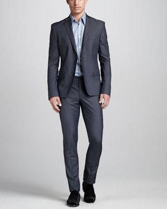 Versace Trend-Fit Cotton Suit