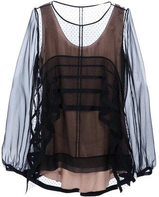 Alberta Ferretti sheer long sleeve blouse