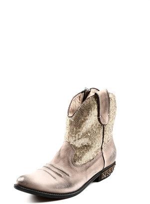 Baldan Gold Sequin Cowboy Boot