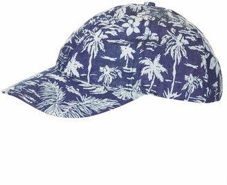 Topshop Denim tropical print cap