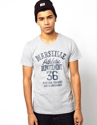 Solid !Solid T-Shirt With Athletic Dept Print
