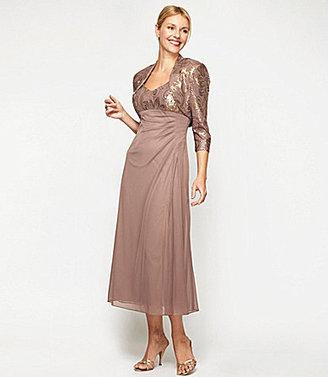 Alex Evenings Sequin Jacket Dress