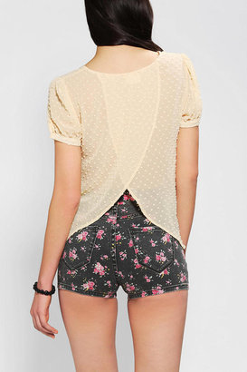 Urban Outfitters Pins And Needles Clip Dot Tulip Blouse