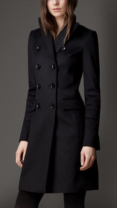 Burberry Double-Breasted Cashmere Showerproof Coat