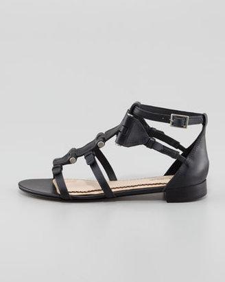 Pour La Victoire Eleni Hinged Gladiator Sandal, Black