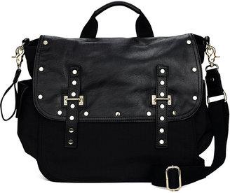 Rebecca Minkoff Logan Leather & Nylon Diaper Bag, Black