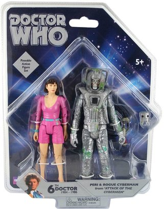 Peri Doctor who & rogue cyberman action figure set