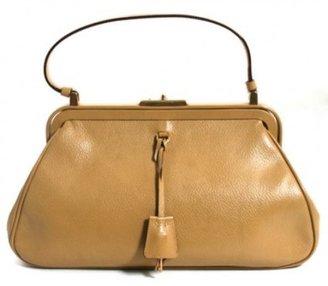 Prada excellent (EX Camel Leather Doctor Satchel Bag