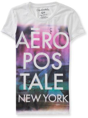 Aeropostale Aero Color Blur Graphic T