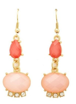 Charlotte Russe Faceted Stone Dangle Earrings