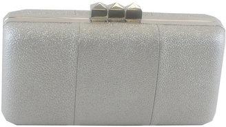 Sondra Roberts Metallic Leather Box Clutch