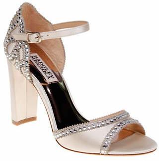 Badgley Mischka Kelly Satin Block Heel Sandals