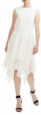 Maje Asymmetric Lace Dress