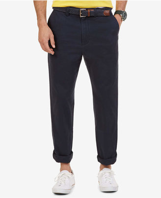 Nautica Big and Tall Men Pants, Anchor Flat Front Twill Pants