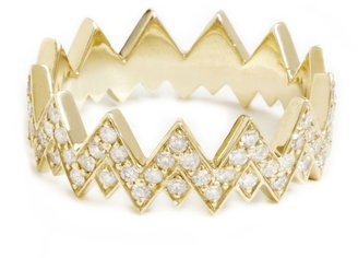 ONE JEWELRY Kayla Stackable Diamond Crown Ring
