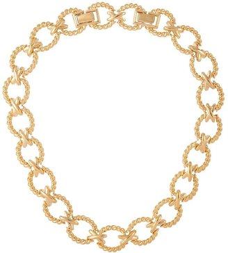 Susan Caplan Vintage 1980s Vintage Nina Ricci Criss Cross Necklace