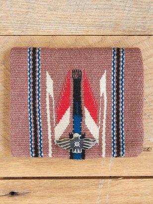 Free People Vintage Coffee Brown Woven Wool Bag