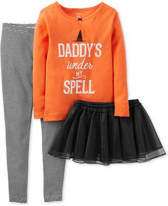 Carter's Toddler Girls' 3-Piece Halloween Pajamas