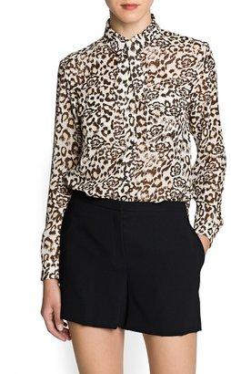 MANGO Combi print chiffon blouse