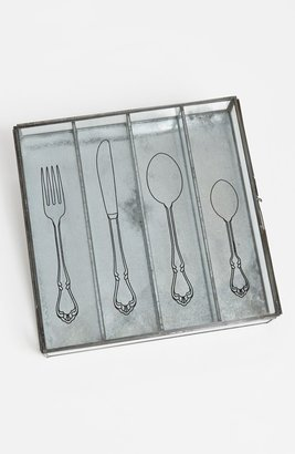 Torre & Tagus Glass Flatware Box