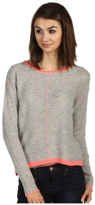 Rebecca Taylor Cashmere Marl Pullover (Light Grey/Safety) - Apparel