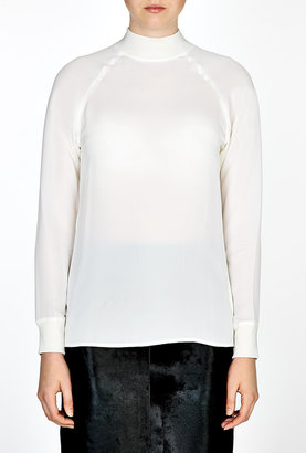 Theory Double Silk Georgette Top