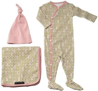 Petunia Pickle Bottom Organic Girls' Olive Snuggle Gift Set