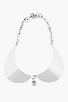 Marc by Marc Jacobs Silver Peter Pan Collar Necklace