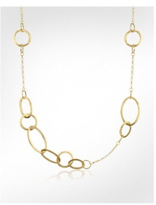 Forzieri Long 18K Yellow Gold Chain Necklace