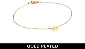 Asos Gold Plated Sterling Silver Triangle Bracelet