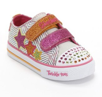 Skechers twinkle toes shuffles triple up light-up shoes - toddler girls