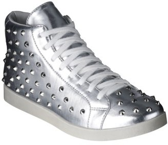 Xhilaration Women's Khalil Low Top with Studs - Silver