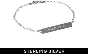 Asos & Wear That There Sterling Silver 'Free as a Bird' Fine Chain Bar Bracelet - Silver